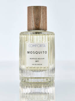 Eau de Parfum: Mosquito from Comporta, Portugal. Features: clean, light floral, musk, ozonic.