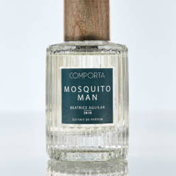 Extrait de Parfum: Mosquito Man from Comporta, Portugal. Features: ozonic, musky, green, salty, light floral.